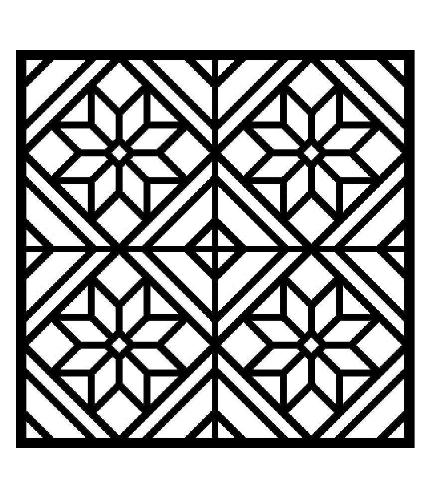Plantilla stencil 30x30cm mosaico