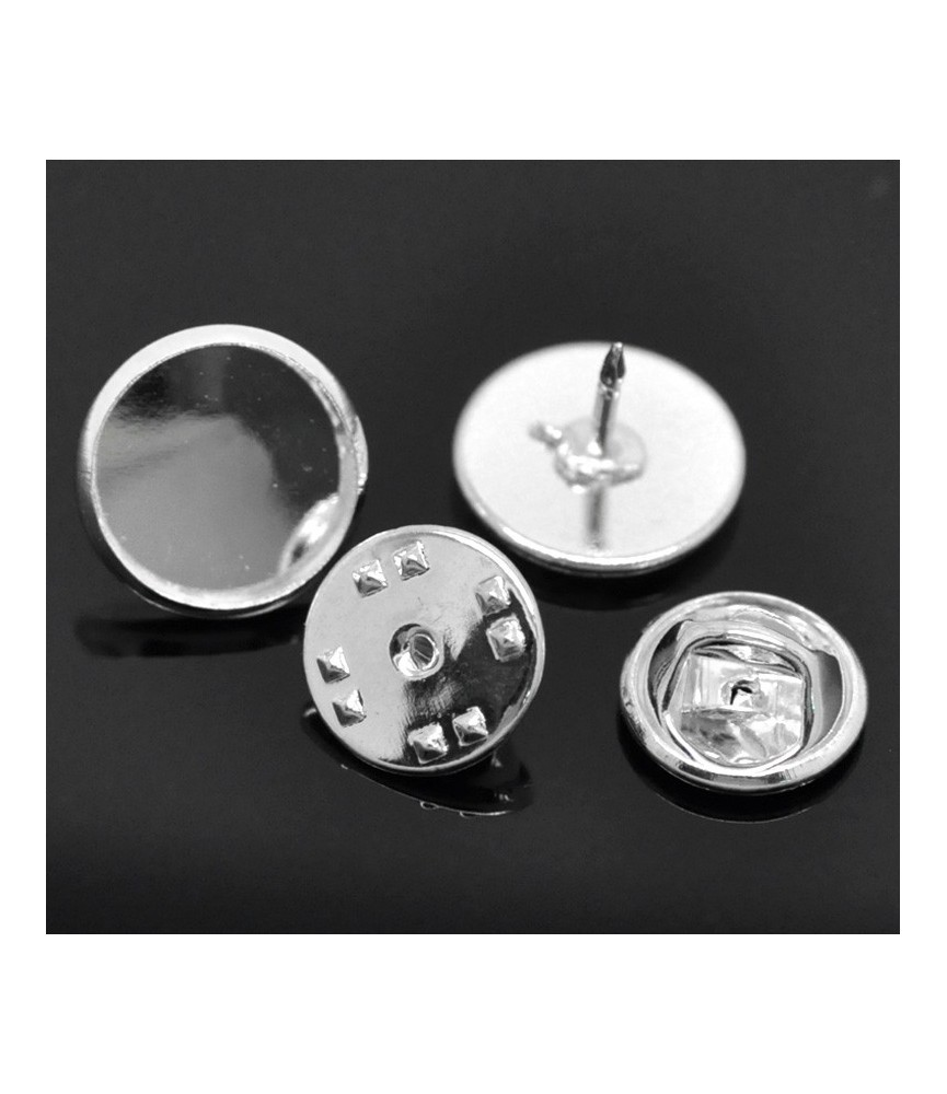 Base para pins 12mm plata