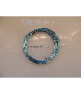 Rollo 10 metros alambre de aluminio 1.5mm azul celeste
