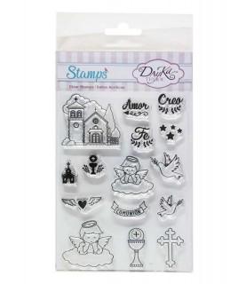 Comprar Pack sellos acrílicos comunión y bautizo de Conideade