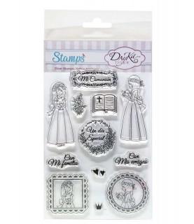 Comprar Pack sellos acrílicos comunión niña de Conideade