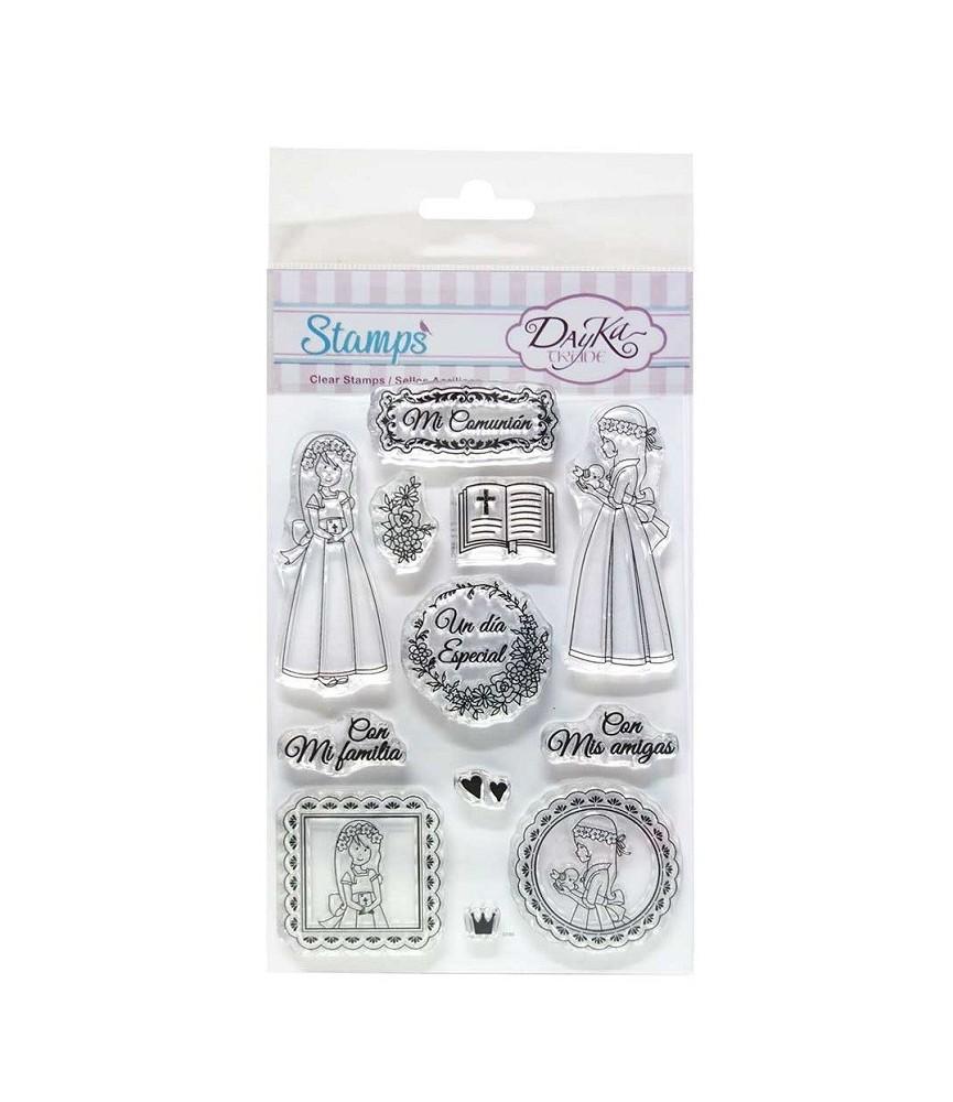 Pack sellos acrílicos comunión niña