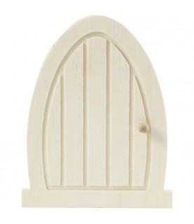 Mini puerta de madera con pomo