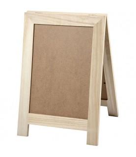 Portacarteles doble de 40 cm de madera
