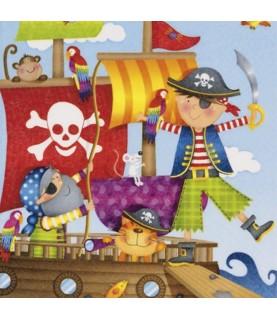 Imagén: Servilleta para decoupage piratas