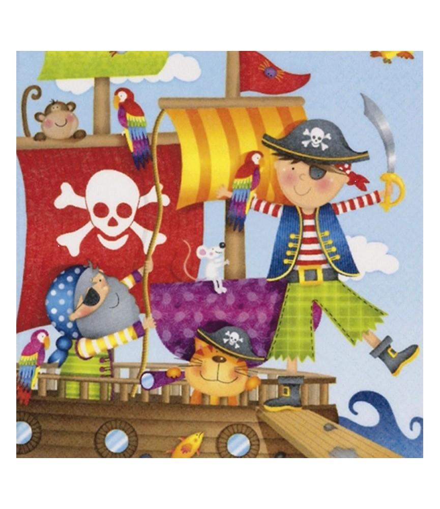 Servilleta para decoupage piratas