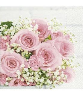 Servilleta para decoupage ramo de rosas