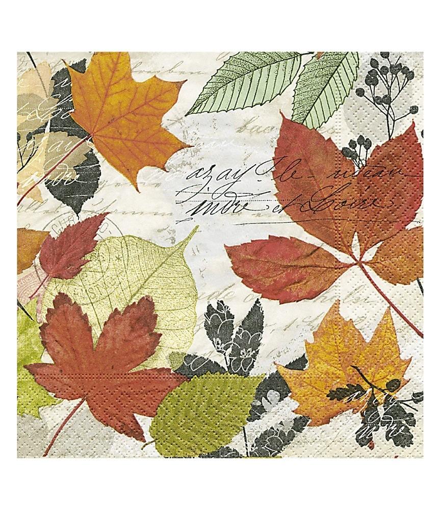 Servilleta para decoupage hojas otoño
