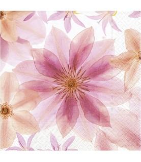 Servilleta para decoupage flores prensadas