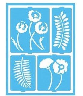 Comprar Plantilla 16 x 20 cm flores y helechos de Conideade