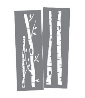 Comprar Set 2 Plantillas15 x 46 cm Troncos Abedul de Conideade