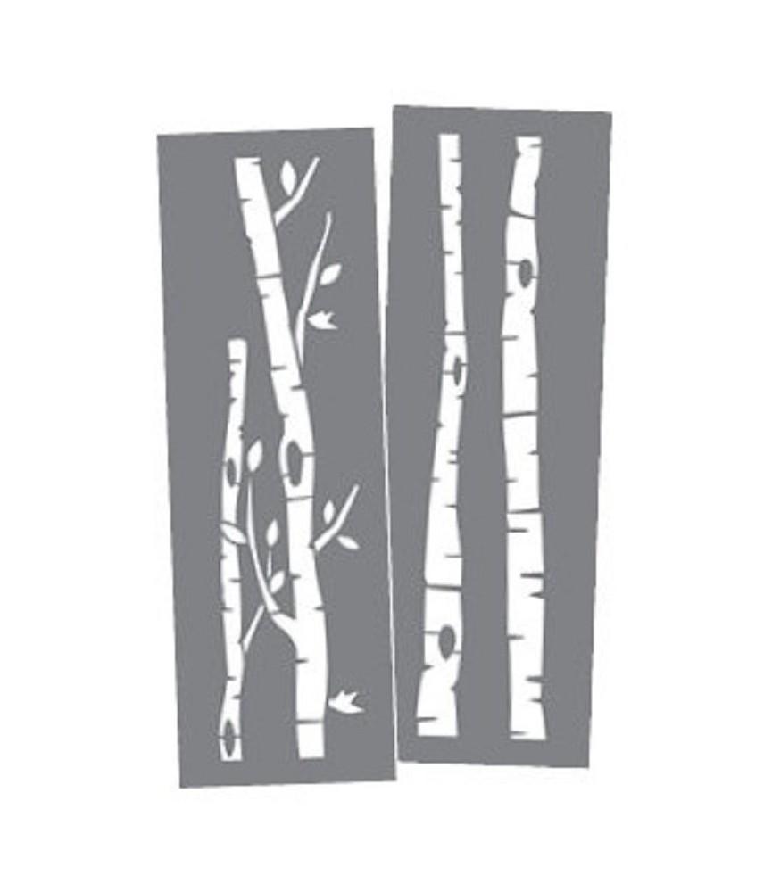 Set 2 Plantillas15 x 46 cm Troncos Abedul