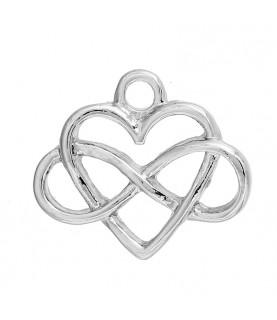 Comprar Charm simbolo infinito y corazón de Conideade