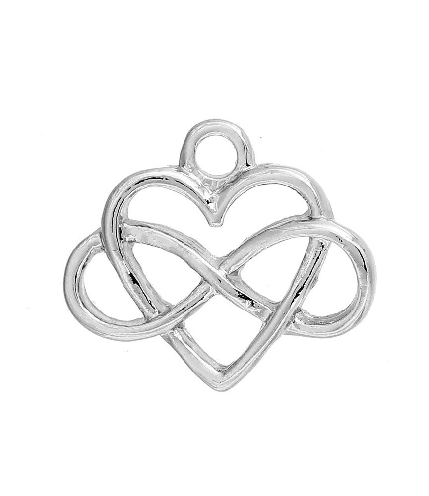 Charm simbolo infinito y corazón