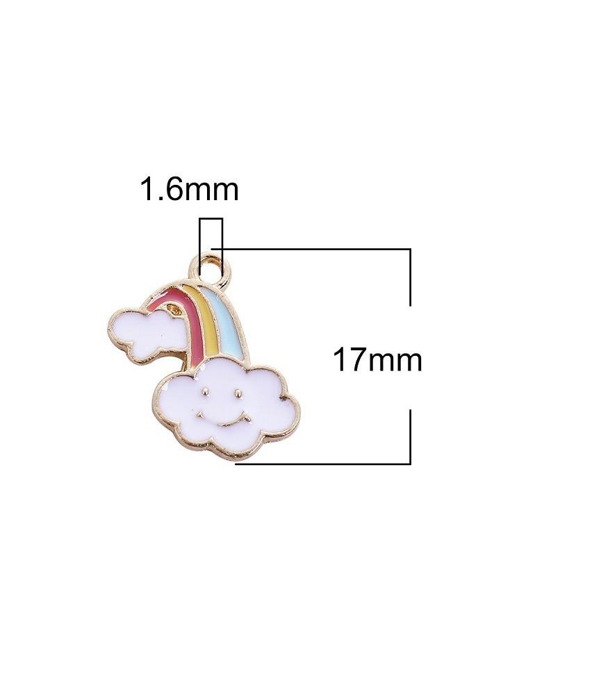 Charm arcoiris nube
