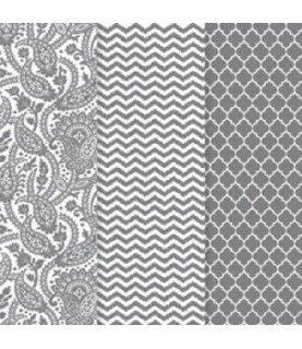 Comprar Pack de 3 hojas decoupage metalizadas plata de Conideade