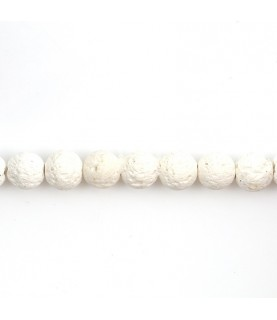 Pack de 10 cuentas de piedra volcanica blanca