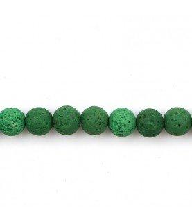 Pack de 10 cuentas de piedra volcanica verde
