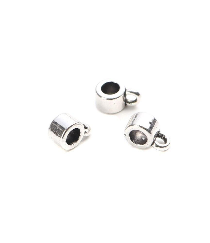 Pack de 10 cuentas de metal para colgar 8mm