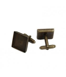 Comprar Par de Gemelos de 18x18 mm bronce de Conideade