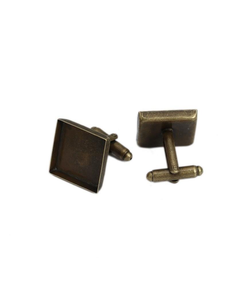 Par de Gemelos de 18x18 mm bronce