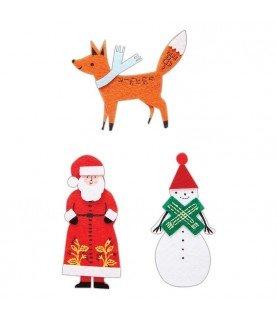Comprar 6 piezas de decoraciones de fieltro Merriest Christmas de Conideade