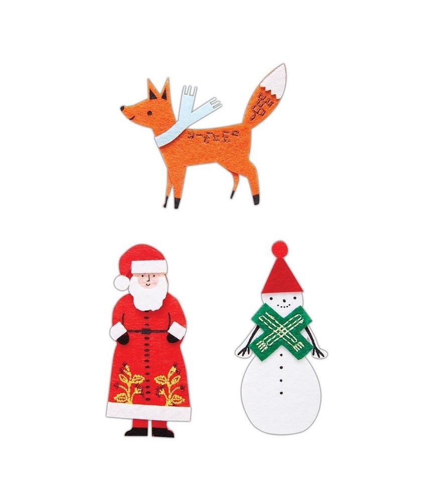6 piezas de decoraciones de fieltro Merriest Christmas