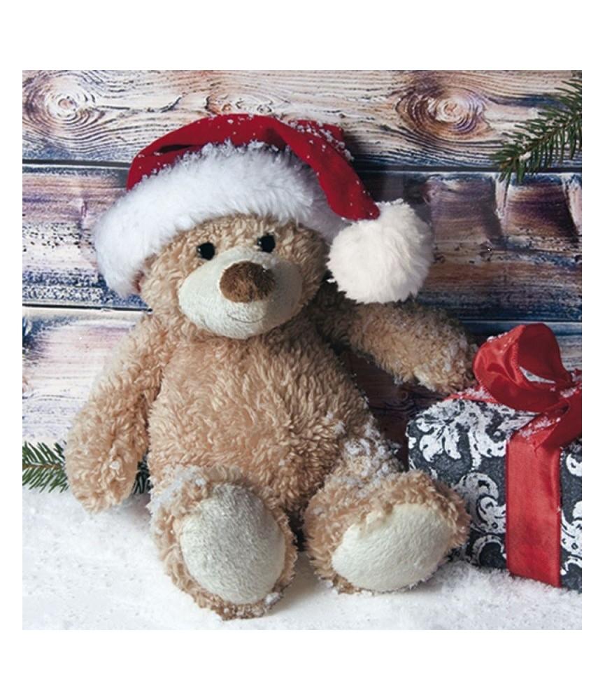 Servilleta para decoupage osito navidad