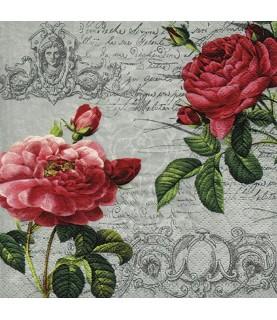 Comprar Servilleta para decoupage flor abierta y cerrada de Conideade