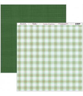 Comprar Papel scrap vive la navidad fono cuadros verdes de Conideade