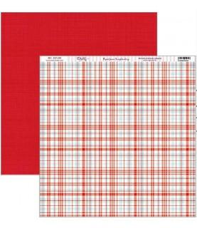Comprar Papel scrap vive la navidad fondo cuadros rojo de Conideade