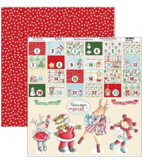 Comprar Papel scrap vive la navidad calendario de adviento de Conideade