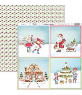 Comprar Papel scrap vive la navidad 4 escenas de Conideade