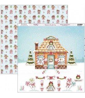 Comprar Papel scrap vive la navidad casita dulce de Conideade