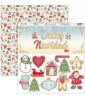 Comprar Papel scrap vive la navidad dulce navidad de Conideade