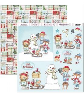 Comprar Papel scrap vive la navidad animales en la nieve de Conideade