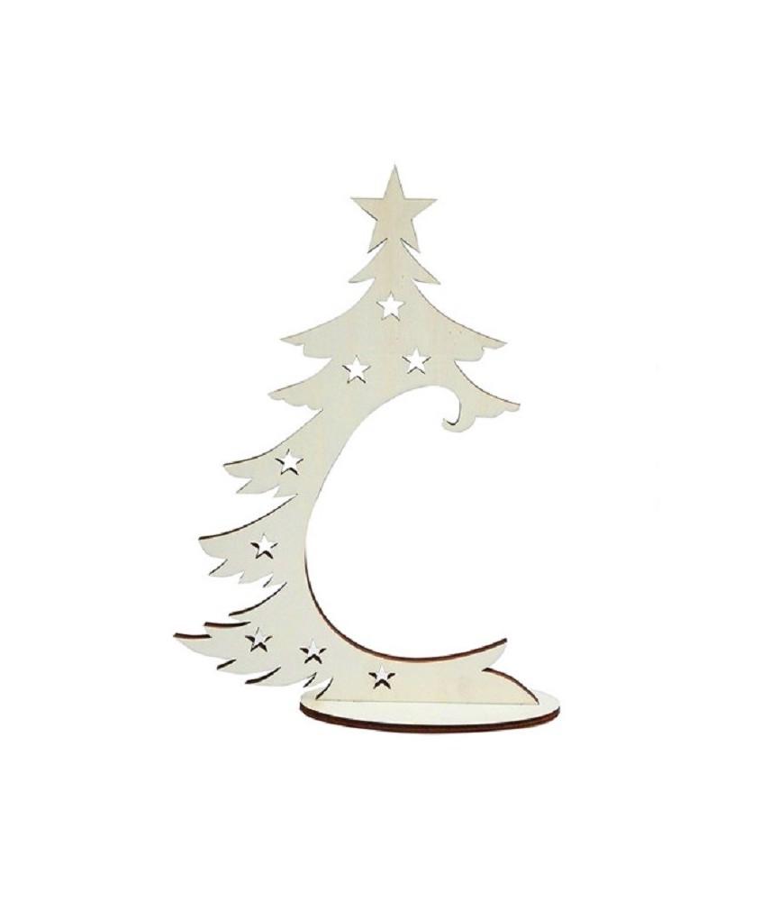 Arbol de navidad de madera soporte bola