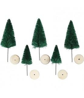 Comprar Set de 5 mini abetos de navidad de Conideade