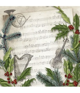 Comprar Servilleta para decoupage partitura navidad