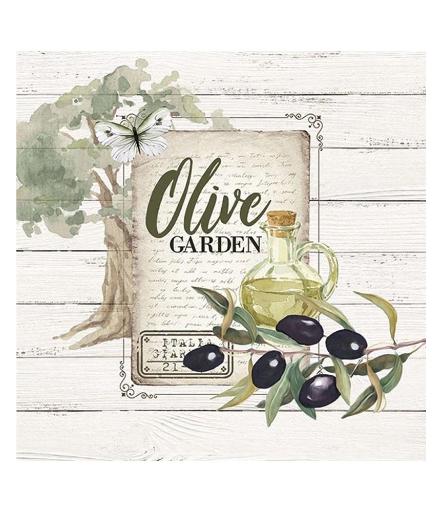 Servilleta para decoupage olivas