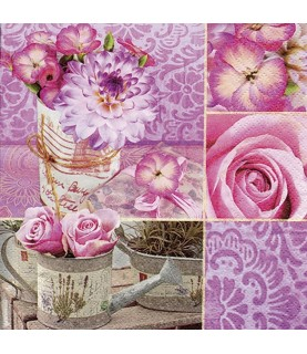 Comprar Servilleta para decoupage Rosa Floral de Conideade