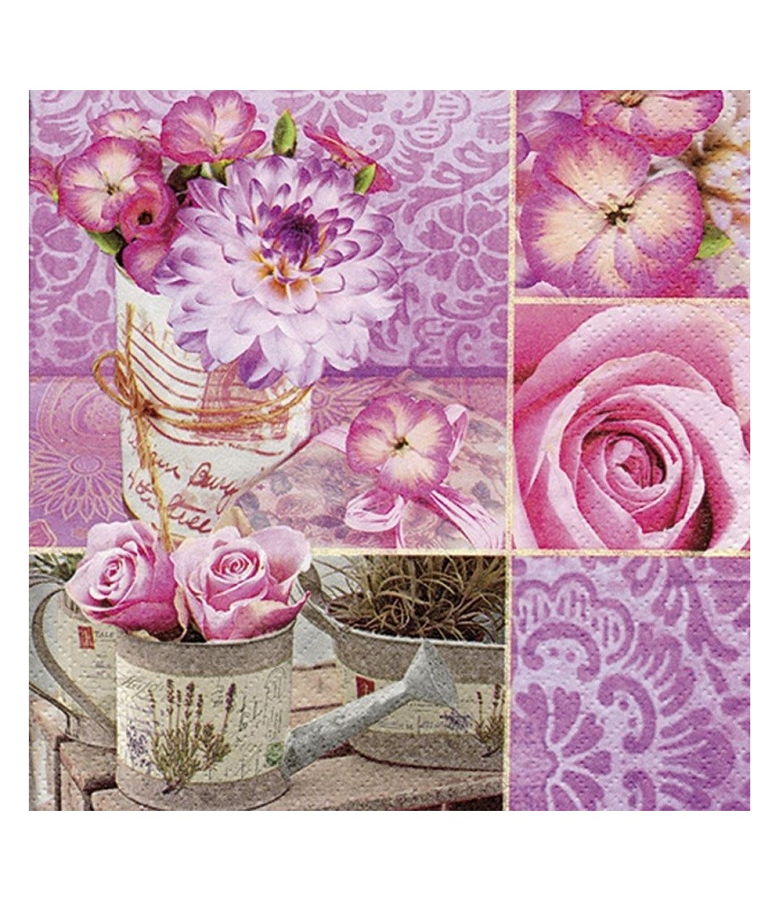 Servilleta para decoupage Rosa Floral