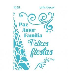 Comprar Plantilla 20x28,5 felices Fiestas de Conideade
