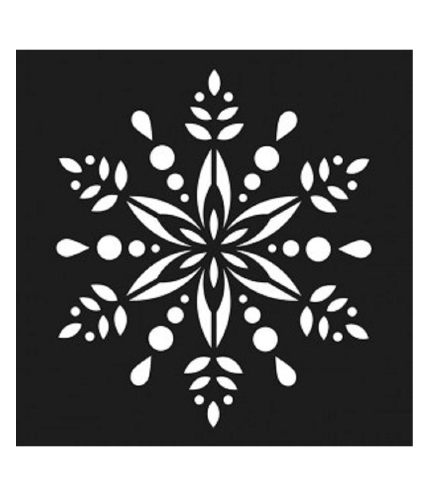 Plantilla flor navidad 15x15cm