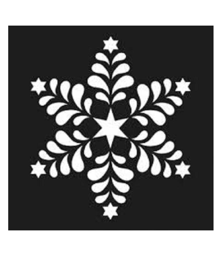Plantilla copo navidad 15x15cm