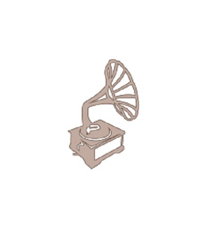 Silueta de carton Gramofono
