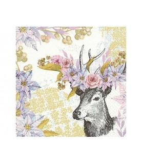 Comprar Servilleta ciervo de flores rosas de Conideade