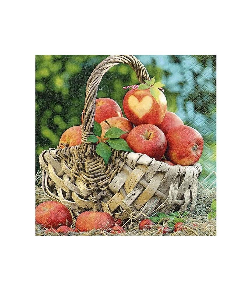 Servilleta cesta de manzanas