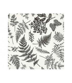 Comprar Servilleta hojas blanco y negro de Conideade