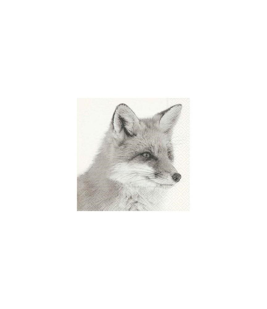 Servilleta con zorro de invierno